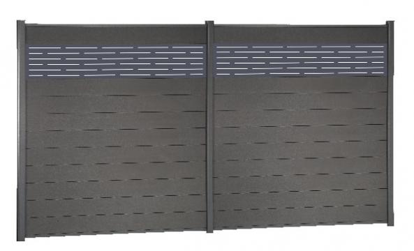 Azur - Lame aluminium - Décor pour clôture composite