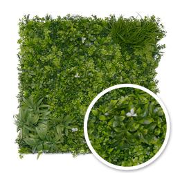Mur végétal artificiel Liseron (Fleurs blanches)