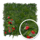 Mur végétal artificiel Tropical (Fleurs anthurium)