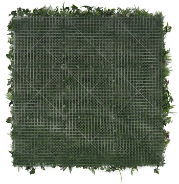 Mur végétal artificiel Tropical (Fleurs anthurium) - Verso