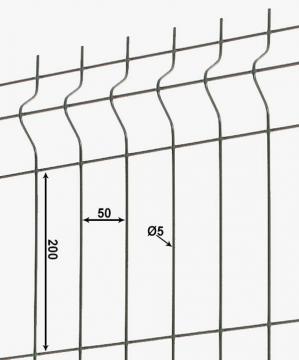 Clôture rigide gris anthracite