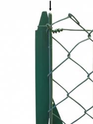 Barre de tension - vert - Côté Clôture