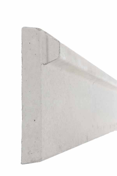 Plaque 1/2 chaperon de soubassement béton - Longueur 2m50 - Côté Clôture