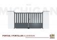 Portail Aluminium Michigan H 1m45 - P 3m50
