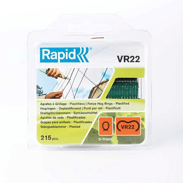 Agrafes noires pour grillage (x215) compatible avec pince Rapid FP 222 - Côté Clôture