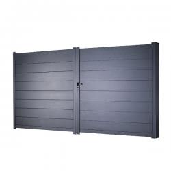 Portail Aluminium Dakota H 1m78 - P 3m50