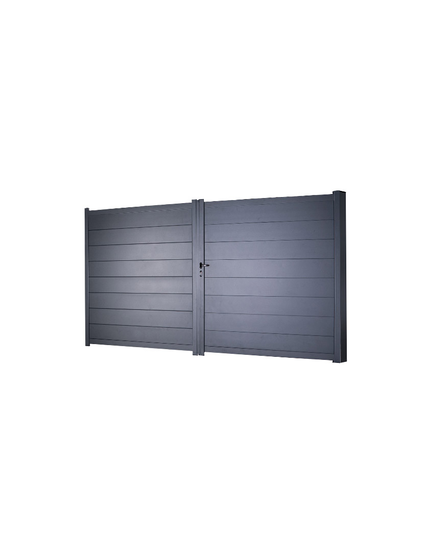 Portail Aluminium Dakota H 1m78 - P 3m00