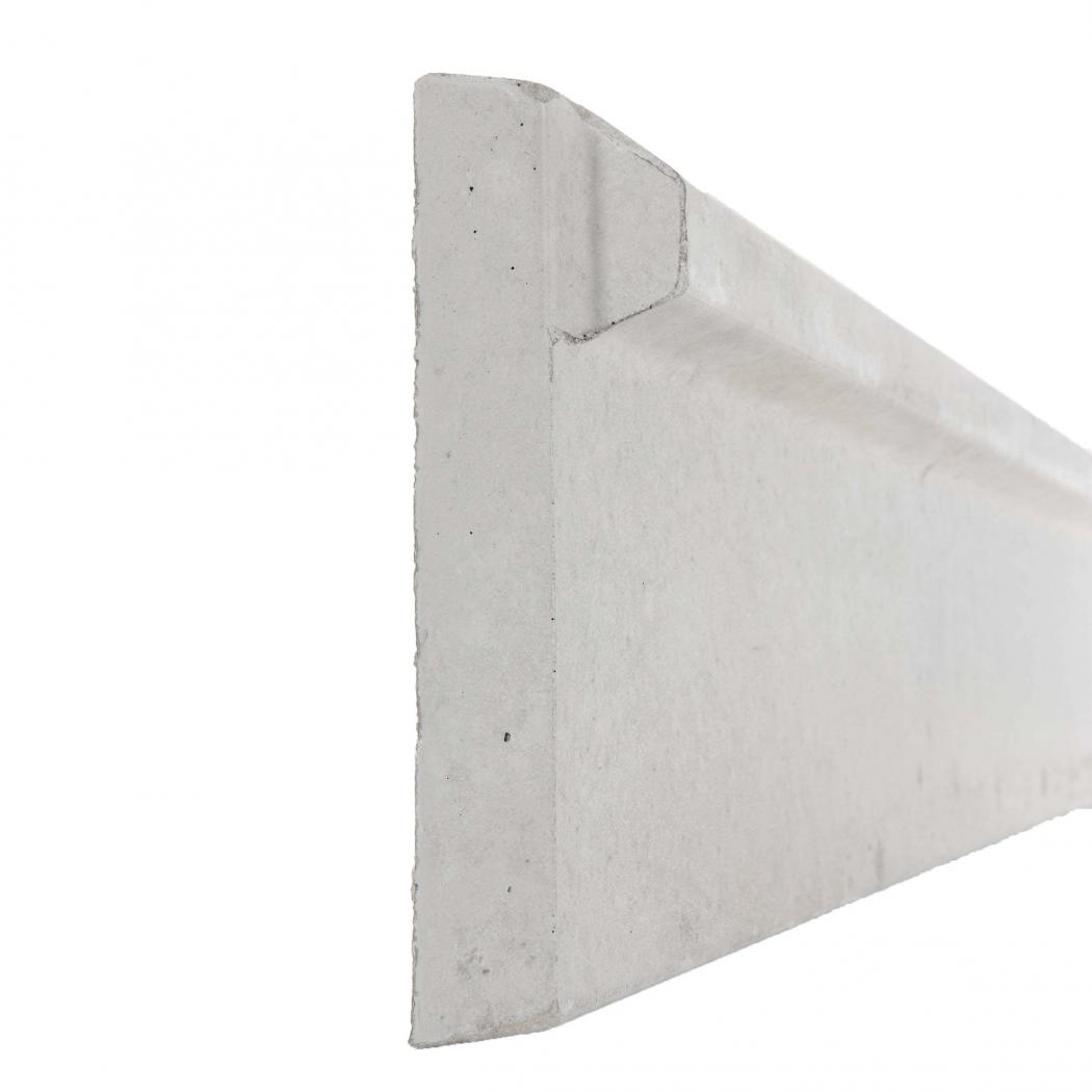 Plaque 1/2 chaperon de soubassement béton - Longueur 2m50
