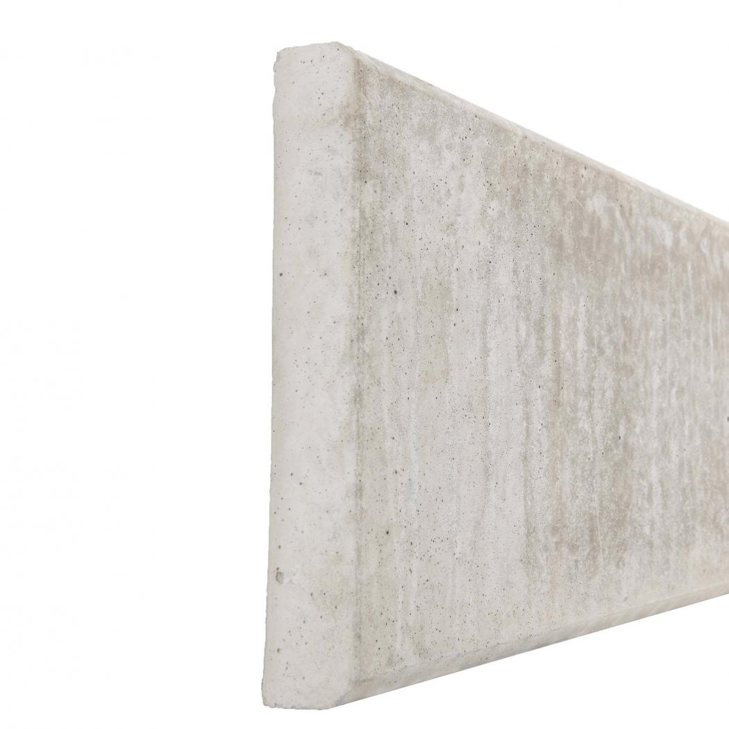 Plaque de soubassement béton droite - Longueur 2m50 Côté Clôture