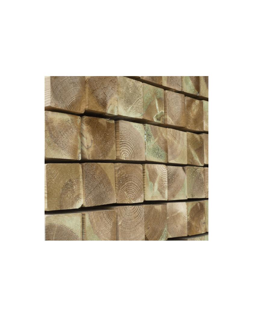 poteau bois non rainuré - L 2m40 - 9 x 9 cm