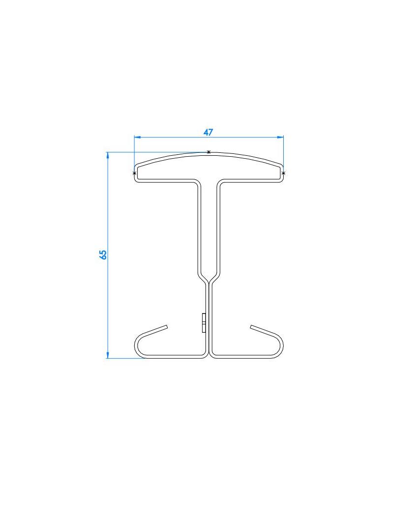 Schéma de Poteau à encoche pour clôture rigide