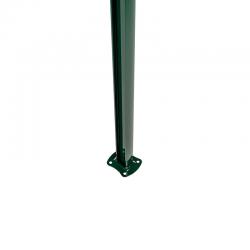 Poteau renforcé sur platine soudée Wiclip  - Vert  6005