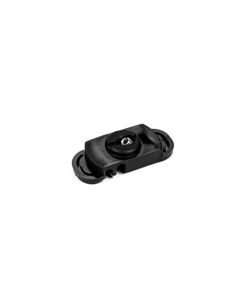 Clip de fixation poteau renforcé Wiclip - Noir 9005