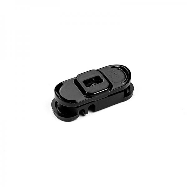 Clip + contre-clip de fixation poteau renforcé Wiclip - Noir 9005